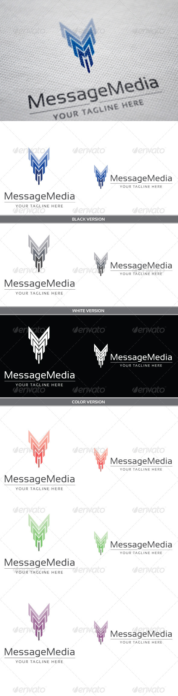 Message Media - Letters Logo Templates