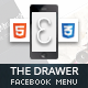 Drawer Mobile Retina | HTML5 & CSS3 and iWebApp Nulled