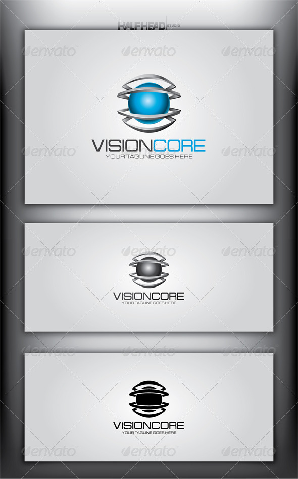 Vision Core Logo Template - Abstract Logo Templates