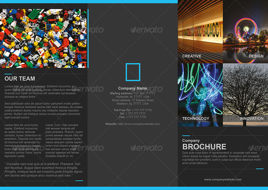 G Studio Clean TriFold Brochure Template By Terusawa  Graphicriver