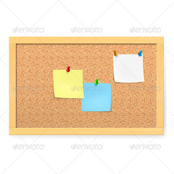 Corkboard with Pushpins - Backgrounds Decorative