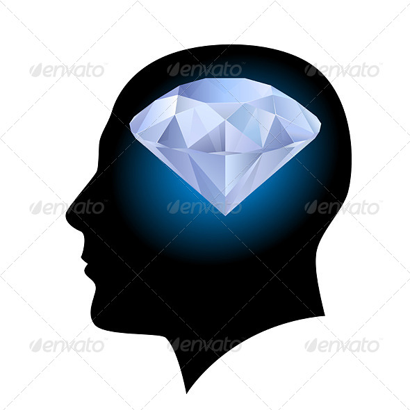 Man's Head and Diamond - Characters Vectors
