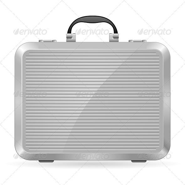 Silver Briefcase - Miscellaneous Vectors