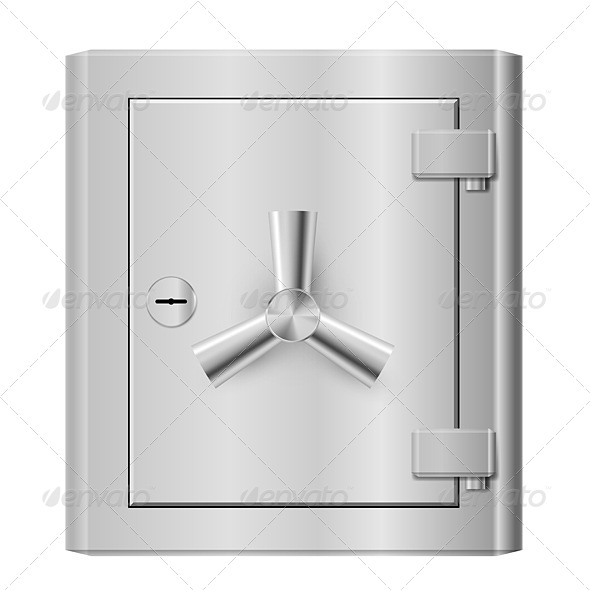 Steel Safe - Objects Vectors