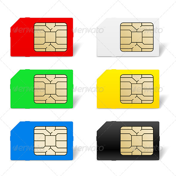 Sim Card Set - Communications Technology