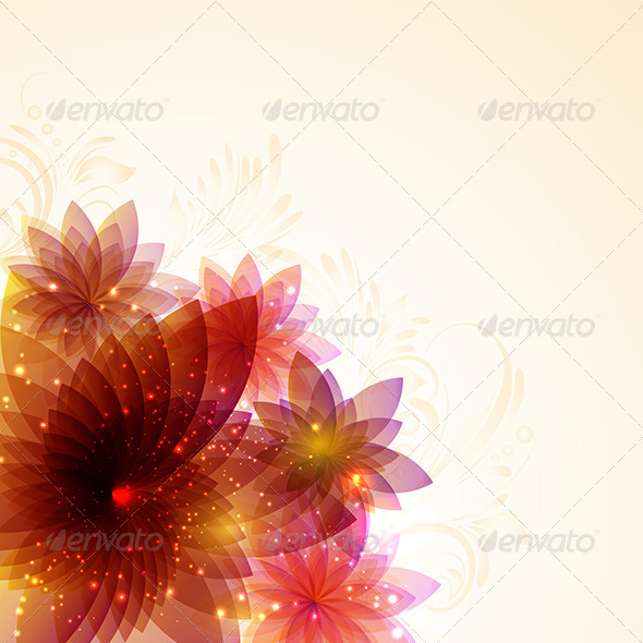Floral Abstract - Backgrounds Decorative