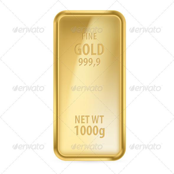 Gold Bar - Web Elements Vectors