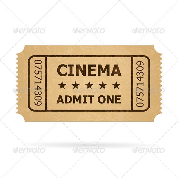 Retro Cinema Ticket - Miscellaneous Vectors