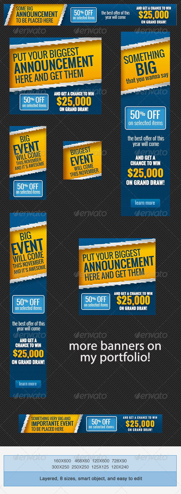 Big Event Banner Ads PSD Template - Banners & Ads Web Elements