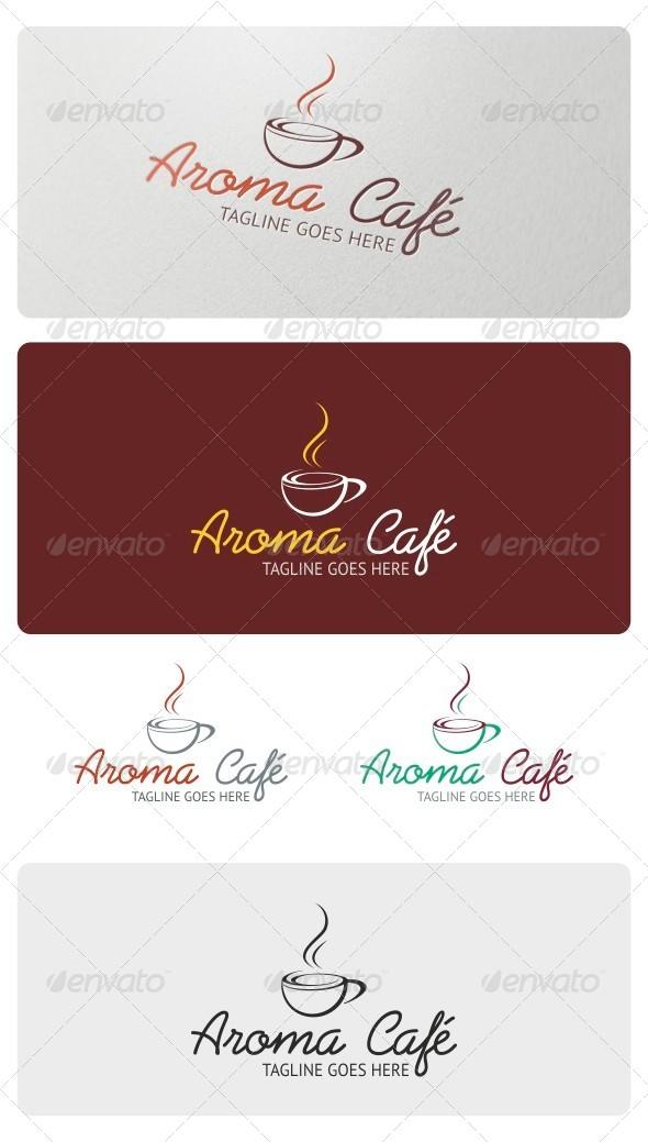 Aroma Cafe Logo Template - Food Logo Templates