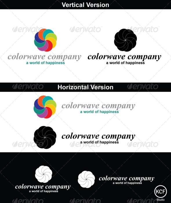 ColorWave Logo Design - Abstract Logo Templates