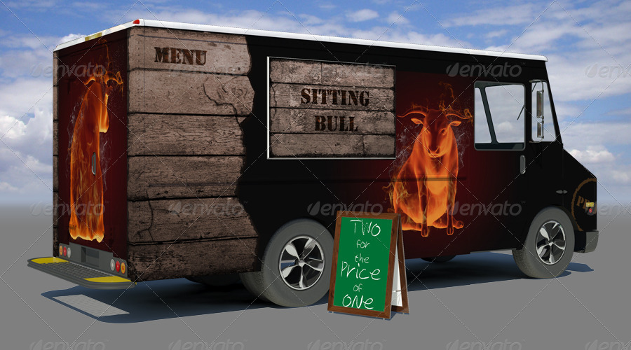 Food Truck Mock Up By Sanchi477
