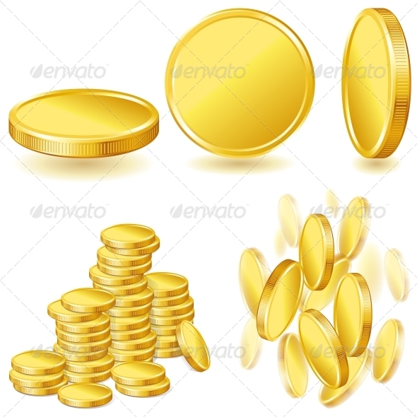 Collection of Gold Coins - Retail Commercial / Shopping