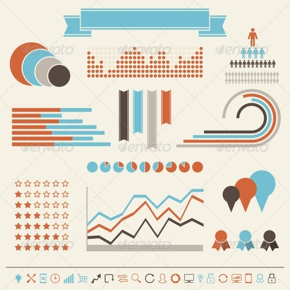 Vintage Styled Infographics Elements - Infographics