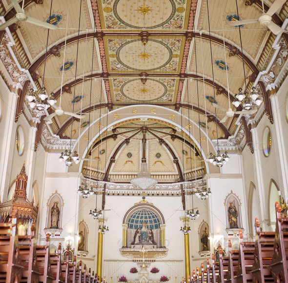 Christian Neo-Gothic Church - Stock Photo - Images