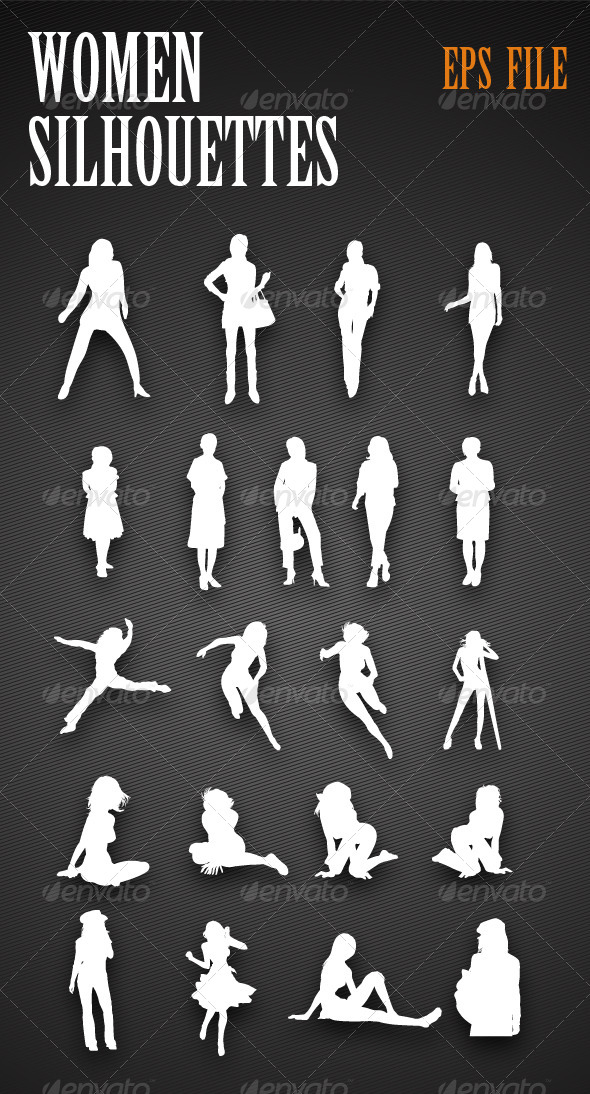 Women Silhouettes - People Characters