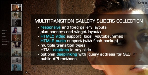 jQuery MultiTransition Gallery Sliders Collection - CodeCanyon Item for Sale