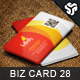 Business Card Design 28 - GraphicRiver Item for Sale