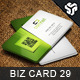 Business Card Design 29 - GraphicRiver Item for Sale
