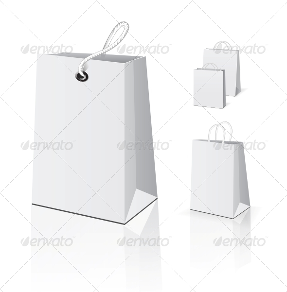 Empty Shopping Bag Set - Retail Commercial / Shopping