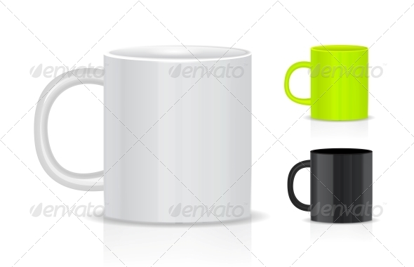 Cup Isolated on White Background - Man-made Objects Objects