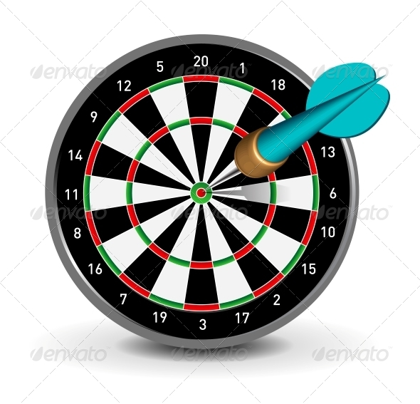 Dartboard with Dart - Sports/Activity Conceptual