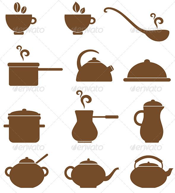 Kitchen Icons - Miscellaneous Vectors