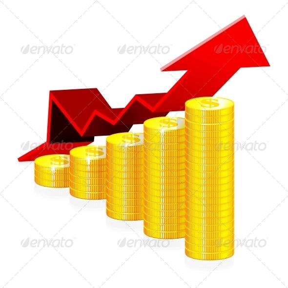 Financial Success Concept - Backgrounds Business