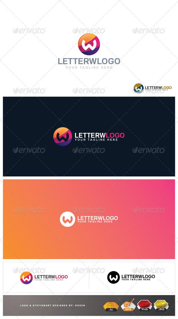 W Letter Logo - Letters Logo Templates