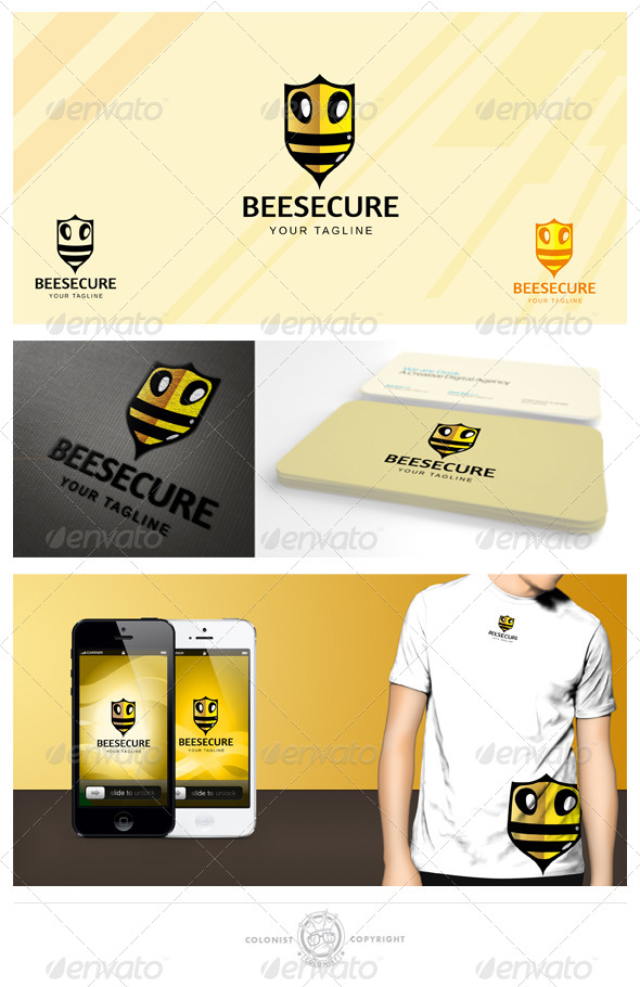 Beesecure Logo - Animals Logo Templates
