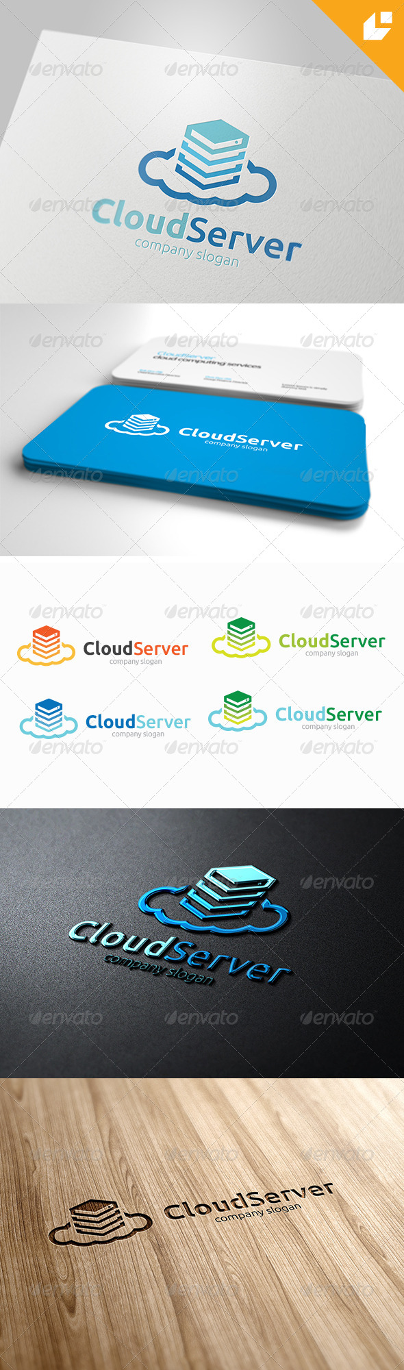 Cloud Server Logo - Nature Logo Templates