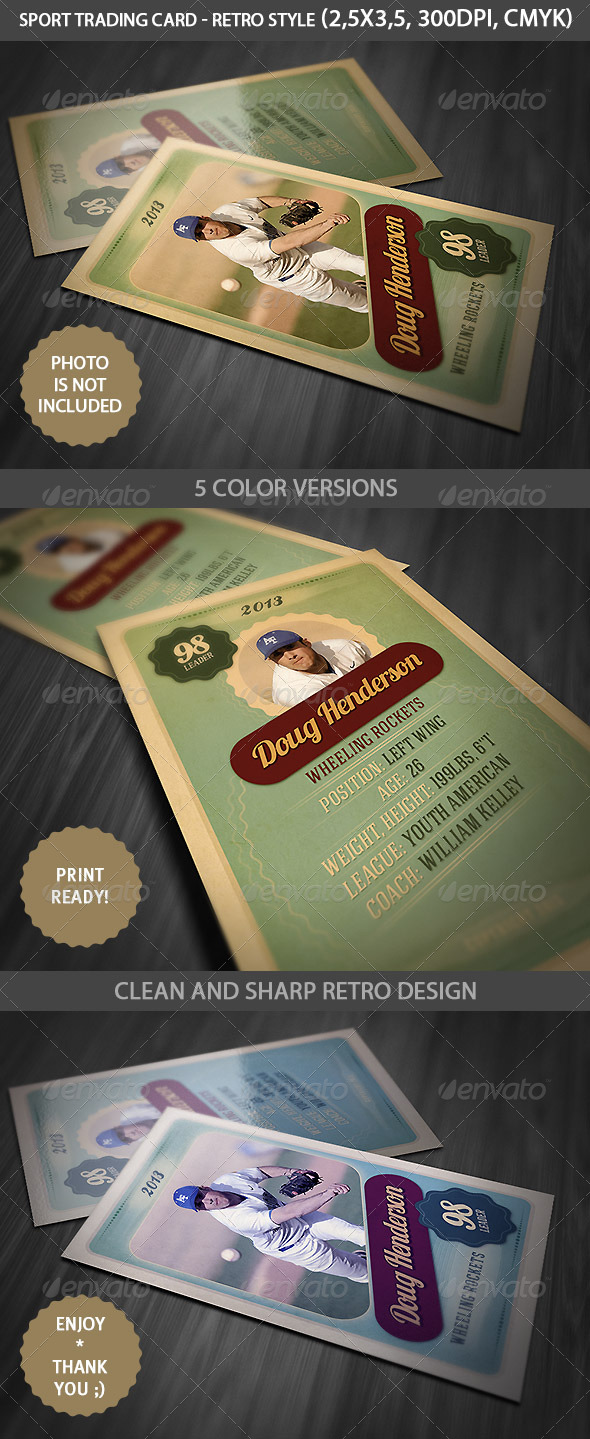 Sport Trading Card by cruzine | GraphicRiver