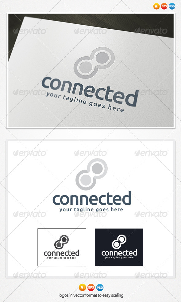 Connected Logo - Symbols Logo Templates