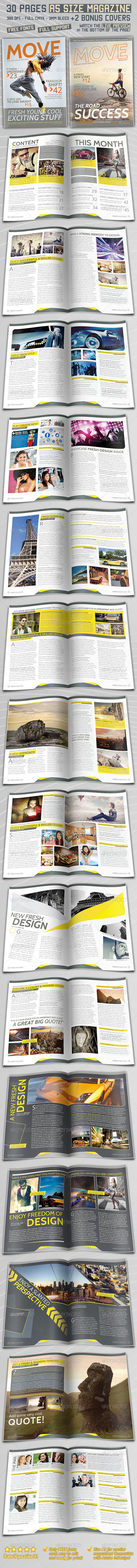 A5 Magazine - 30 Pages + 2 Covers - Magazines Print Templates