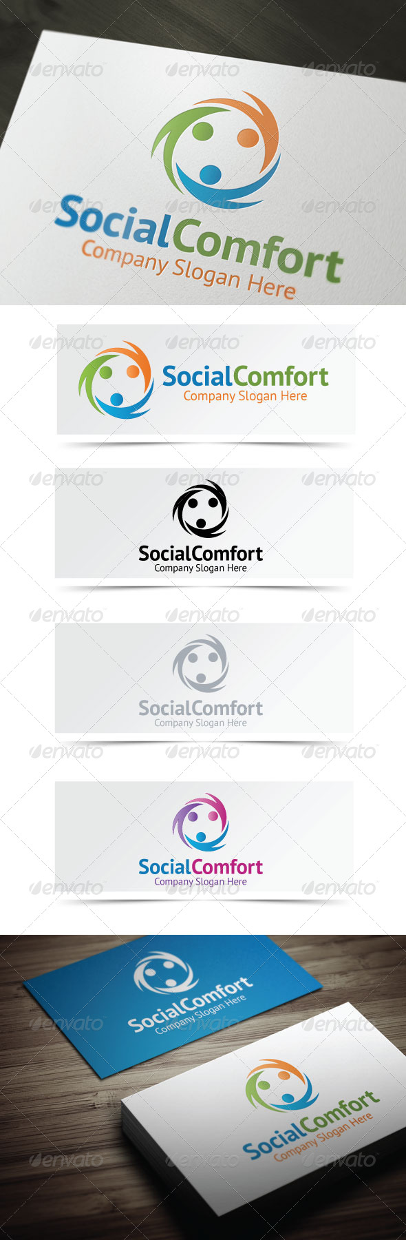 Social Comfort - Humans Logo Templates