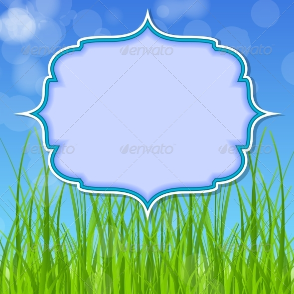 Easter Card with Grass - Backgrounds Decorative