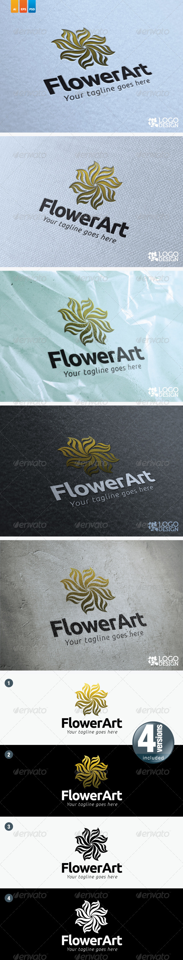 Flower Art - Nature Logo Templates