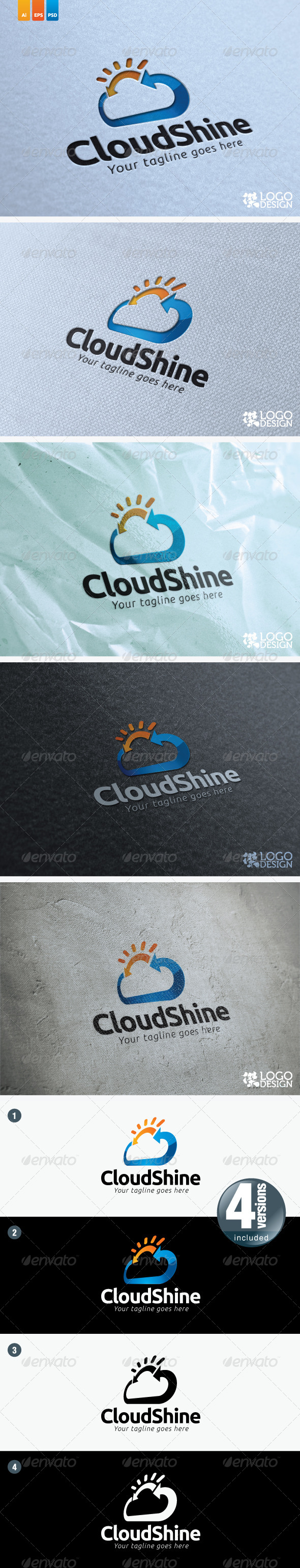 Cloud Shine - Symbols Logo Templates