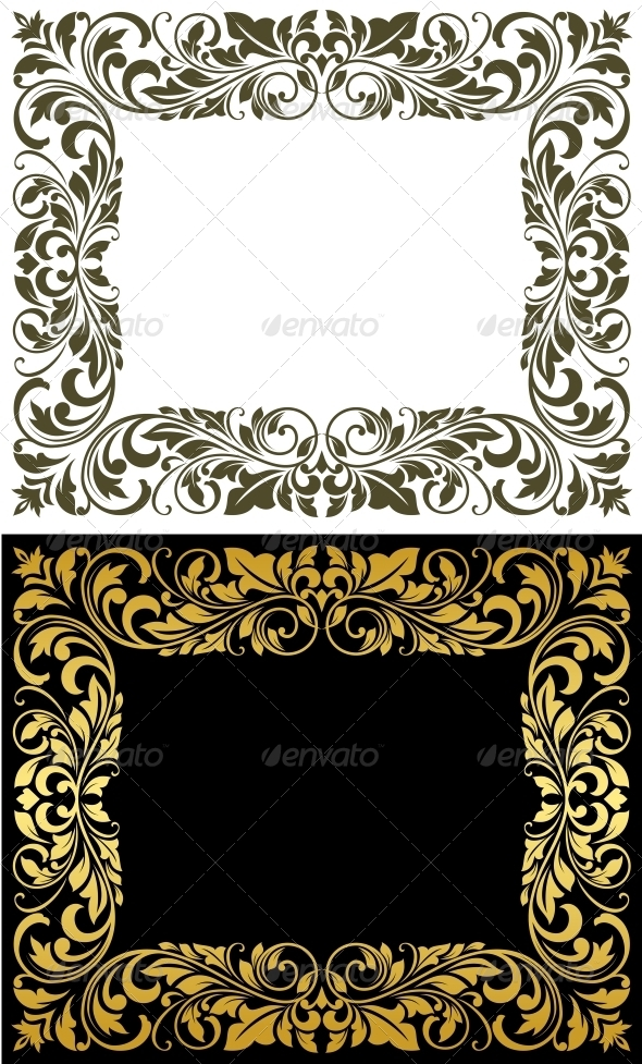 Elegance frame in floral style - Borders Decorative