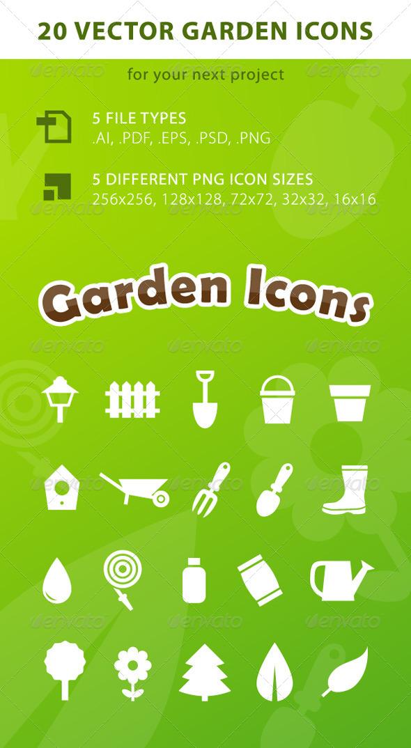 20 Vector Garden Icons - Miscellaneous Icons