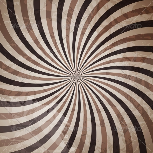 Coffee Abstract Hypnotic Background - Miscellaneous Vectors