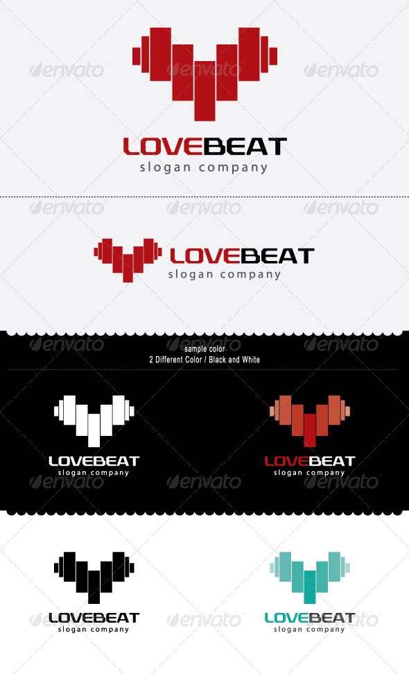 Love Beat - Objects Logo Templates