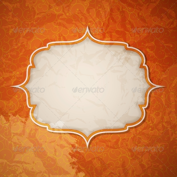 Frame in Retro Vintage Seamless Background - Miscellaneous Vectors