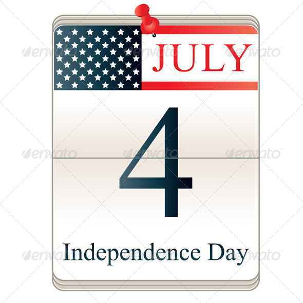 Calendar for 4th July - Seasons/Holidays Conceptual