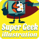 Super Geek System Illustration Game Lover - GraphicRiver Item for Sale