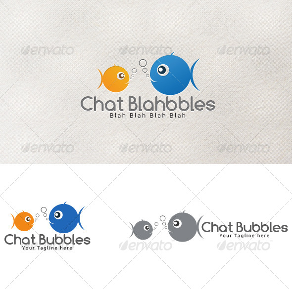 Chat Bubbles - Logo Template - Animals Logo Templates
