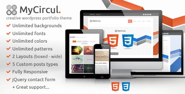 MyCircul – Creative WordPress Portfolio Theme