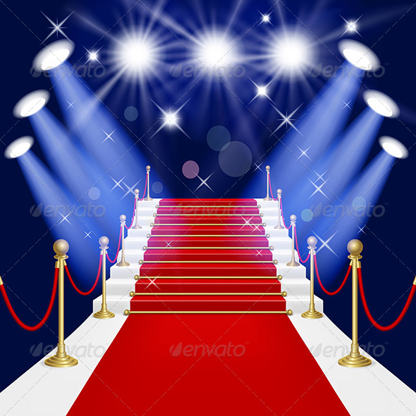 Red Carpet with Ladder - Miscellaneous Vectors