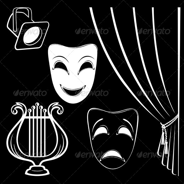 Collection of Theatrical Characters - Miscellaneous Vectors