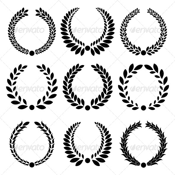 Laurel wreath by elenashow graphicriver for Laurel leaf crown template